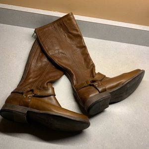 Frye rustic brown leather 7.5M riding boots